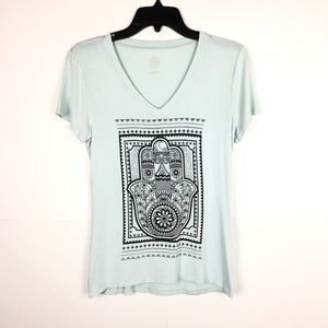 TORY BUTCH GRAPHIC T-SHIRT (Small)